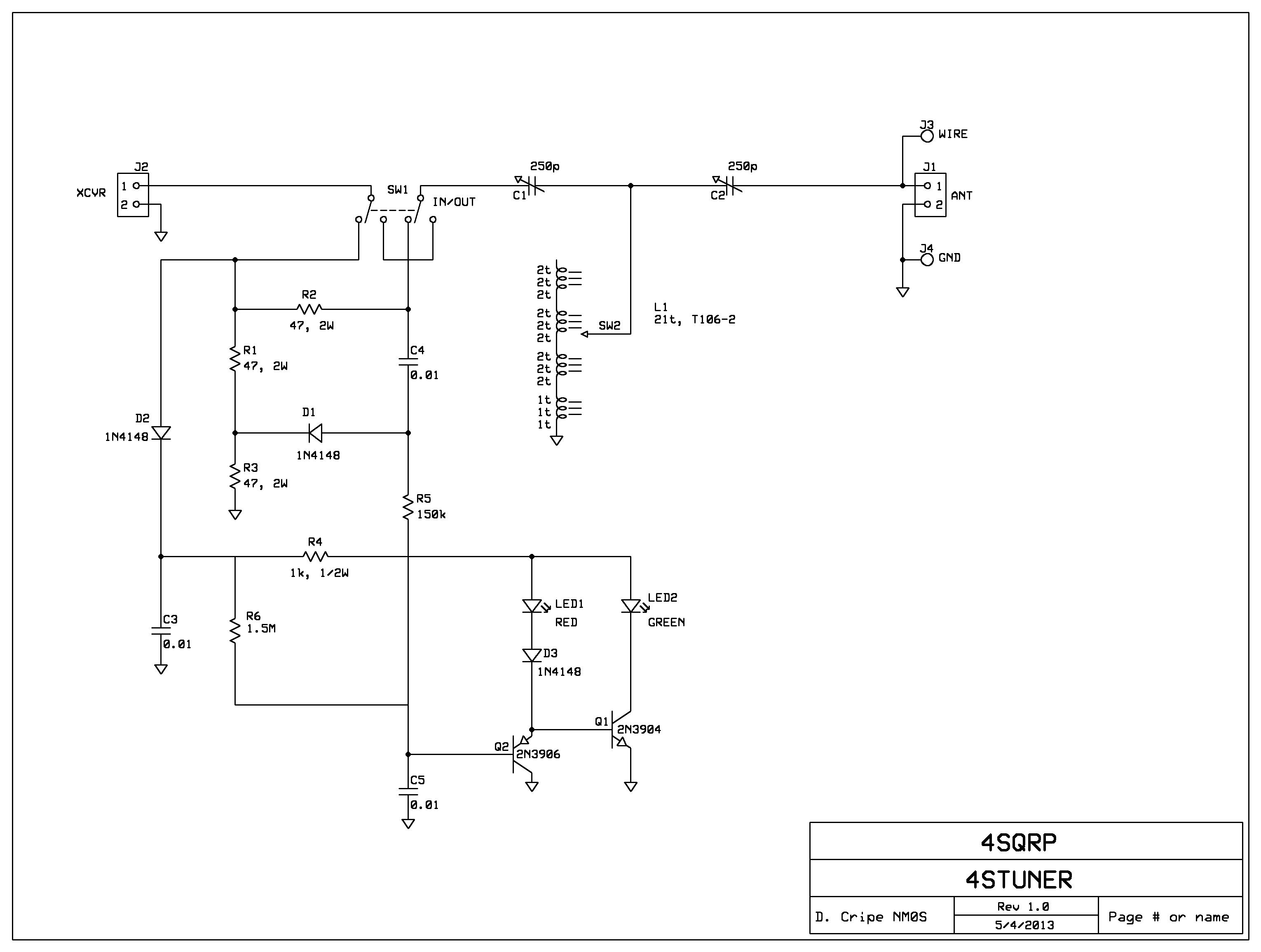 Snap Qrp Antenna Tuner Circuit Electronic Circuits And Diagrams Am Fm Radio Receiver Using Ta8122 Integrated Ic Four State Group